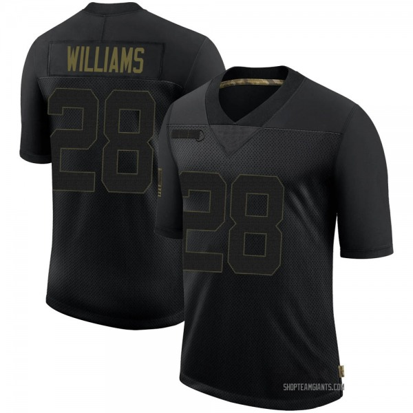 Youth Brandon Williams New York Giants Limited Black 2020 Salute To Service Retired Jersey