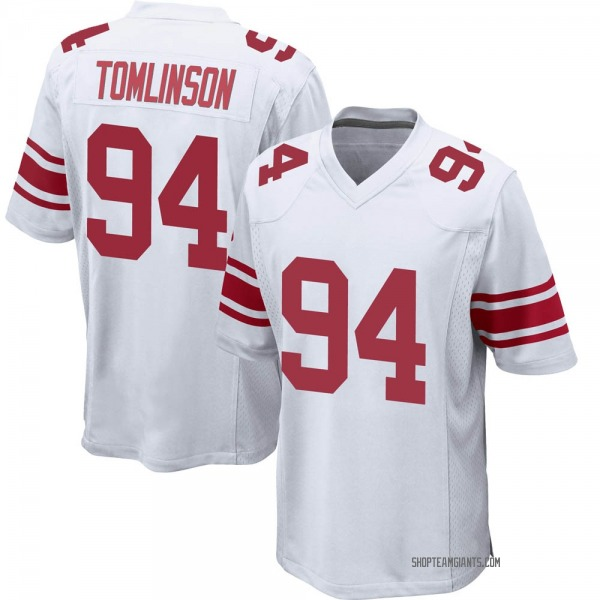 Youth Dalvin Tomlinson New York Giants Game White Jersey