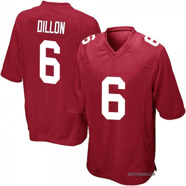 Youth Derrick Dillon New York Giants Game Red Alternate Jersey