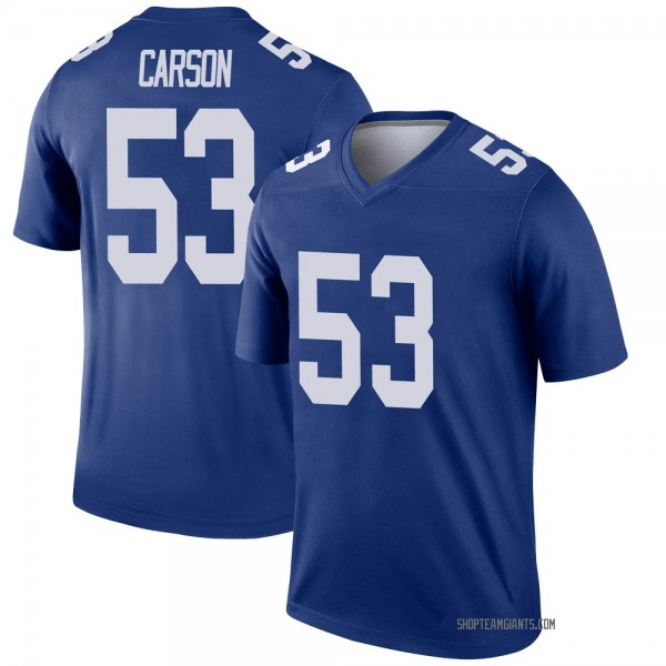 Youth Harry Carson New York Giants Legend Royal Jersey