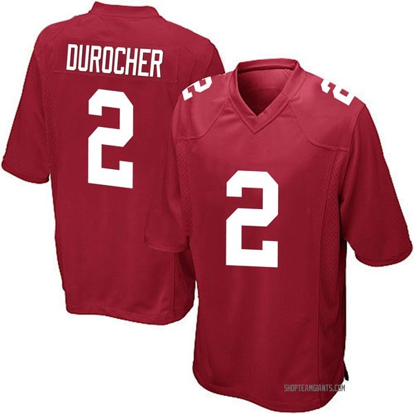Youth Leo Durocher New York Giants Game Red Alternate Jersey