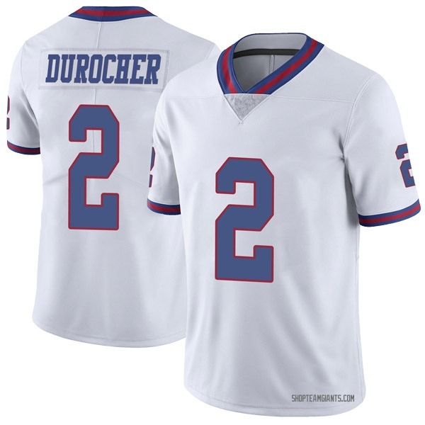 Youth Leo Durocher New York Giants Limited White Color Rush Jersey